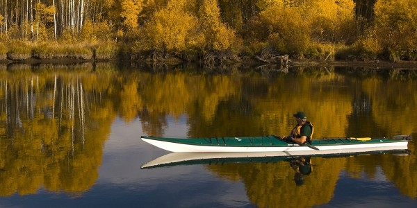Kayak fishing in Lapland